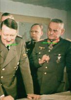 Adolf Hitler, Wilhelm Keitel (blocked), Eckhard Christian and Franz Halder.