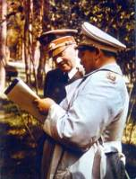 Adolf Hitler and Hermann Göring at Führerhauptquartier.