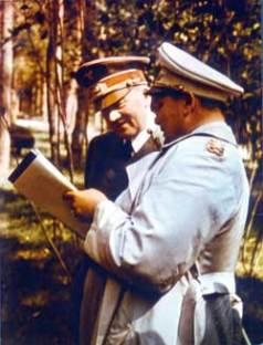Adolf Hitler and Hermann Göring at Führerhauptquartier.