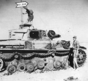 Knocked out Afrika Korps Panzer IV Ausf E.