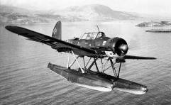 Arado 196 over Crete.