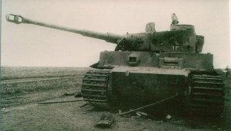 Battle damage in Befehlspanzer Tiger Nr 300 (Command Tiger), s.Pz.Abt.503 at Kursk.