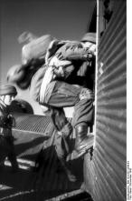 Paratroopers board a Junkers Ju 52 bound for Leros.
