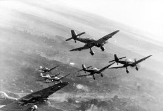 Junkers Ju 87 D's over the Eastern Front, winter 1943–44.