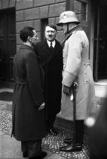 Goebbels, Hitler, and von Blomberg.