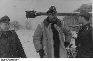 Heinz Harmel with Knights Cross recipient Karl-Heinz Euling (on right) and Otto Paetsch in February 1945. Otto Paetsch (August 3rd, 1909 - March 16th, 1945)