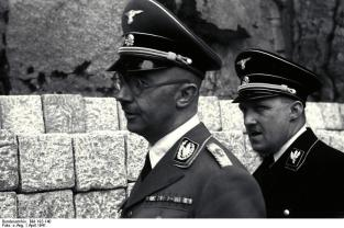August Eigruber (on right) with Heinrich Himmler at Mauthausen-Gusen concentration camp.
