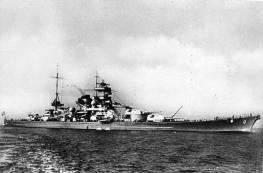 Scharnhorst at sea.