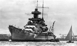 Scharnhorst in port.