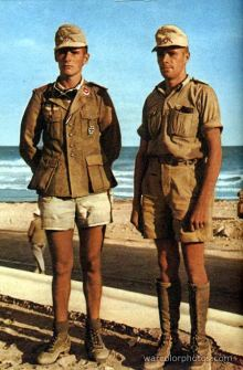 Hans Dietrich Riesl (left) and Lucius Günther Schrivenbach in Africa.