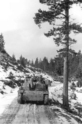 Column of StuGs from 7.SS-Freiwilligen Gebirgs Division Prinz Eugen, Yugoslavia, September 1944.