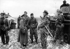 Hasso von Manteuffel gives command output for the 7th Panzerdivision - Ghost Division in the morning.