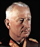 Erich von Manstein with his famous white hair.