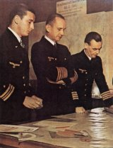 Karl Dönitz with Adalbert Schnee and Eberhard Godt.