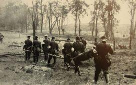 Sanitätssoldaten on Westerplatte - September 1939, Poland.
