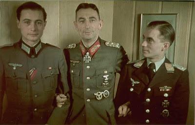 Unknown Officer, Feldmarschall Dietl, and Konrad Knabe.