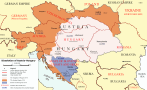 The dissolution of Austria–Hungary in 1918.