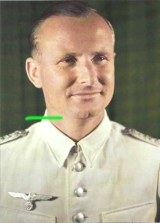 Gerhard Engel wearing Wehrmacht white summer uniform