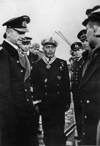 Enzo Grossi, commander of the Italian submarine Barbarigo, awarded by Karl Dönitz with the Knight's cross on October 7,1942.