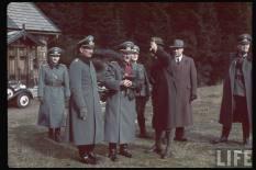Eugen Ritter von Schobert and Franz Ritter von Epp in Sudetenland.