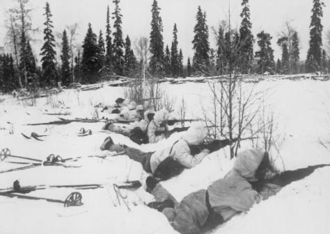 Finnish ski troops in Northern Finland in January 1940.