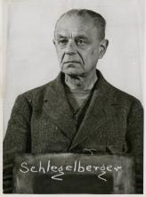 Schlegelberger (aged 71) at the Nuremberg Judges' Trial.