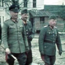 Generalfeldmarschall Günther von Kluge (with Interimstab), Generaloberst Heinrich von Vietinghoff and Generaloberst Gotthard Heinrici.