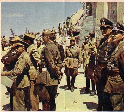 Enno von Rintelen (2nd from right) at Tobruk with Benito Mussolini.