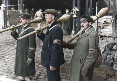 German National Militia 'Volkssturm' armed with Panzerfaust.