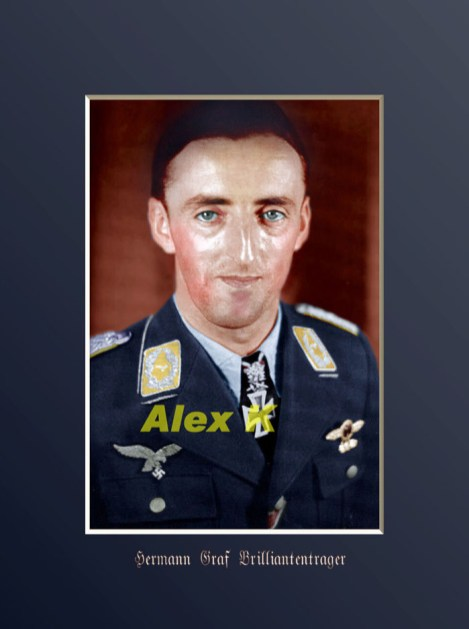 Colorized image of Hermann Graf