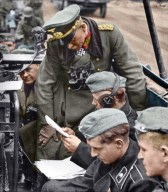 Heinz Guderian with his signal staff at the Operation Fall Gelb, 1940.
