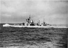 Duke of York in the Arctic escorting a convoy.