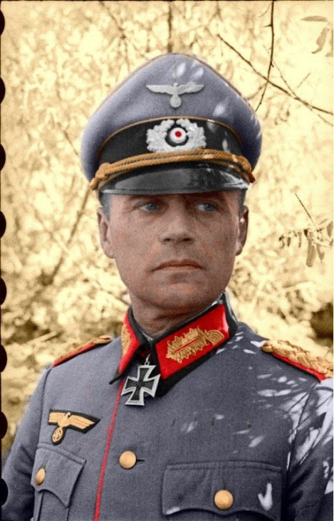 Ferdinand Heim as a Generalmajor. A colorized picture from Wehrmacht Awards Forum.