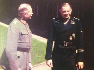 Generaloberst Heinz Guderian (left) and SS-Hauptsturmführer Michael Wittmann.