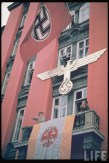 Adolf Hitler during the Austrian Anschluss referendum at Salzburg, March 1938.