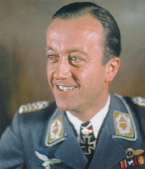 Bernhard Jope as a Major after receiving Eichenlaub #431.