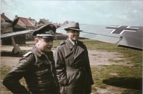 Josef Priller and Profesor Kurt Tank (chief designer Focke-Wulf), September 1942.