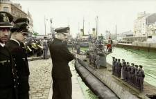 June 1941, Karl Donitz at a U-Boat launching from St. Nazaire, France.
