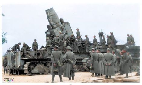 Karl Mörser and PzKpfw IV Fahrgestell Munitionschlepper.