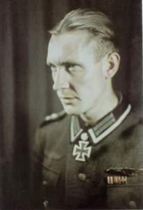 Ernst Kruse as Oberfeldwebel shortly after receiving Eichenlaub.