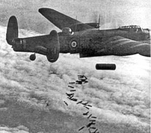 Lancaster_I_NG128_Dropping_Blockbuster_-_Duisburg_-_Oct_14,_1944