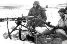 MG 34 position of the SS.division Totenkopf on the eastern front.