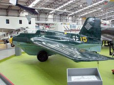 Me 163 B-1a at the National Museum of Flight in Scotland.