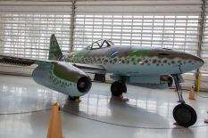 An Me 262 of JG 7 on display at the Evergreen Aviation & Space Museum.