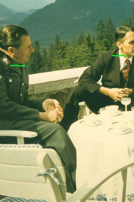 NSKK-Gruppenführer Albert Bormann (left) and Richard Vogt.