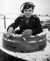 Oberleutnant Wilhelm Knauth in his Tiger, Russia early 1944.