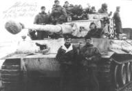 Otto Carius and his Tiger.