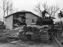 Panther of the 2nd SS Div. Das Reich near Grandmenil, Belgium, December 30, 1944.