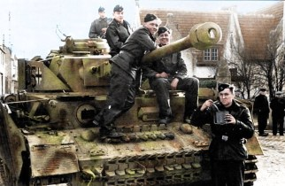 Panzer IV Ausf. J, II.SS.Pz.Rgt. 12th SS Division Hitlerjugend training in Belgium, 1943-44.