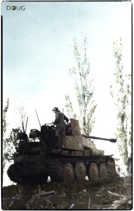 Panzerjäger Marder III Sd.Kfz.139 of 24th Panzer Division near Stalingrad. June 1942.
